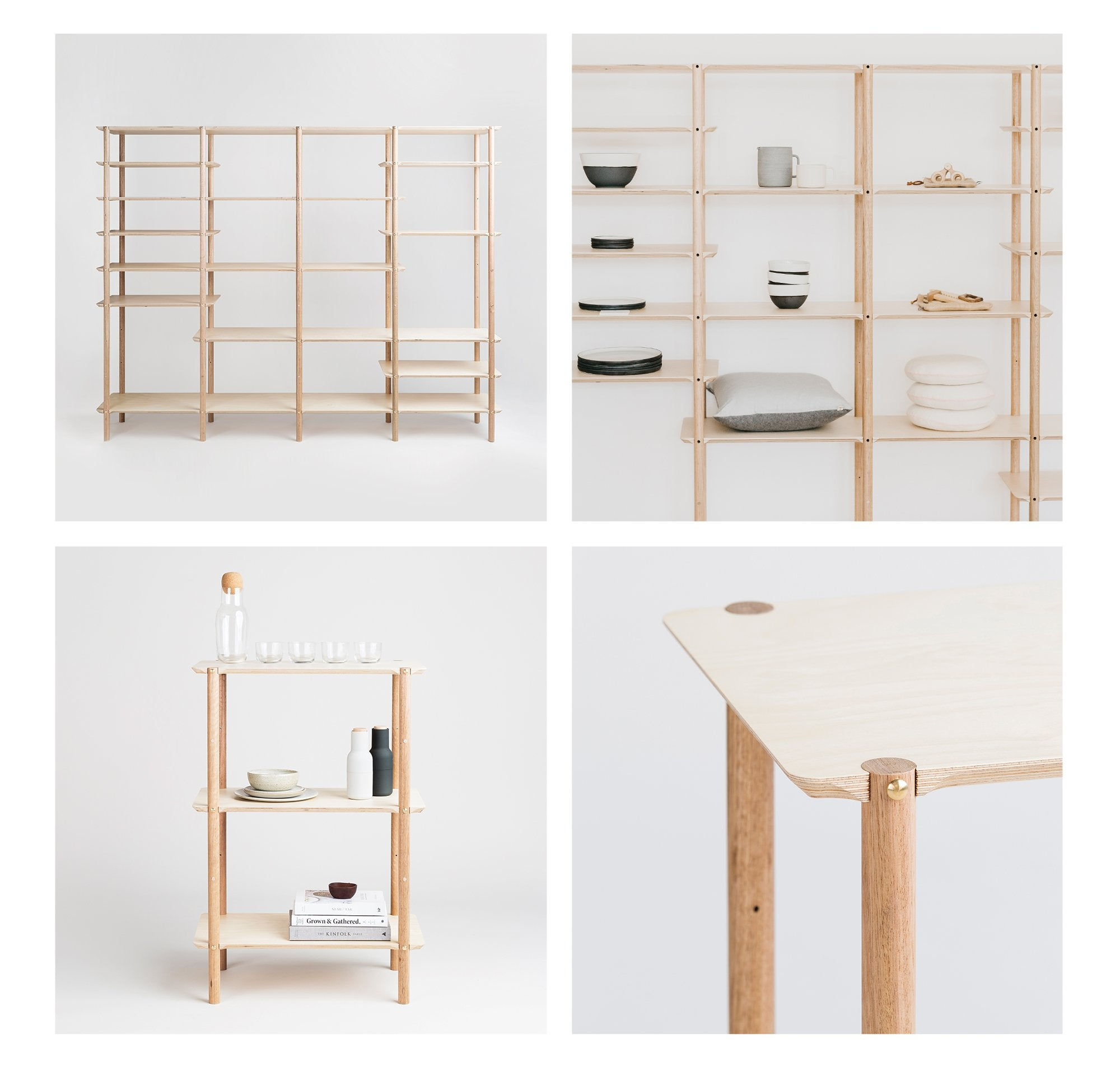 The modular Shibui Shelving Collection is made in Melbourne