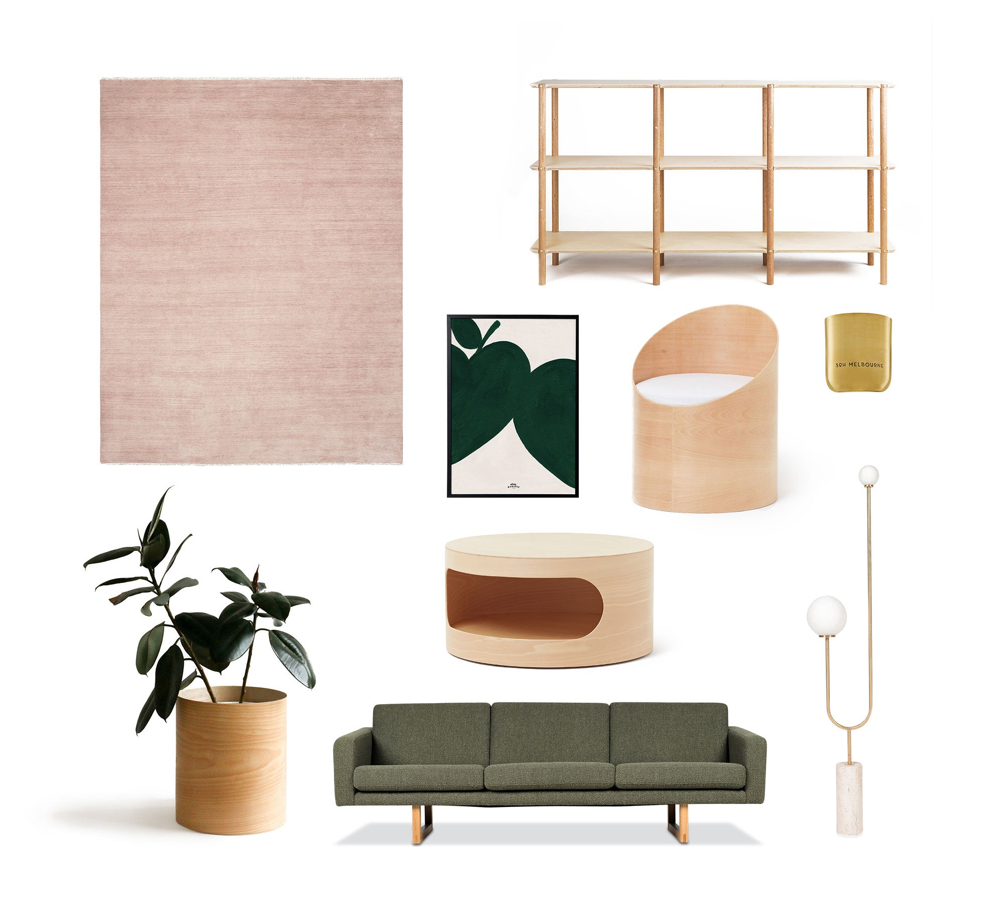 Modern Times and Armadillo & Co in a Luxury Interior Mood Board
