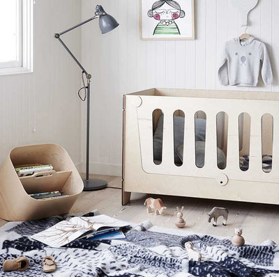 Ava Lifestages Cot - a minimialist eco cot for the modern nursery