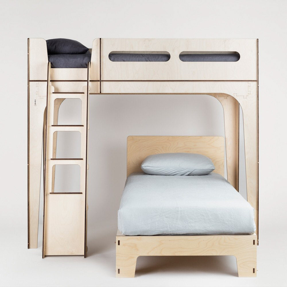 Designer Loft Bed with Kids Single Bed by Plyroom