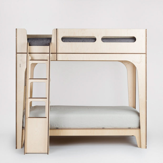 modern loft bed with single bed underneath forms a versatile bunk bed