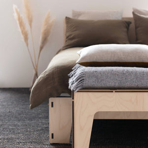 Flat Out Modern Queen Bed with Bench Seat