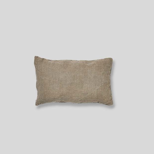 100% linen rectangle cushion in natural