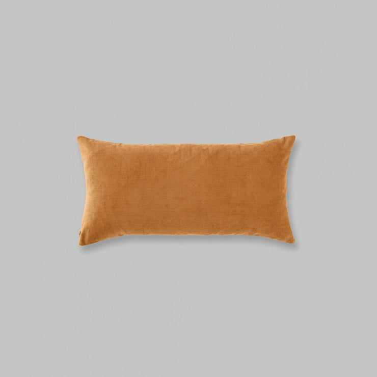 organic cotton rectangle cushion in ochre