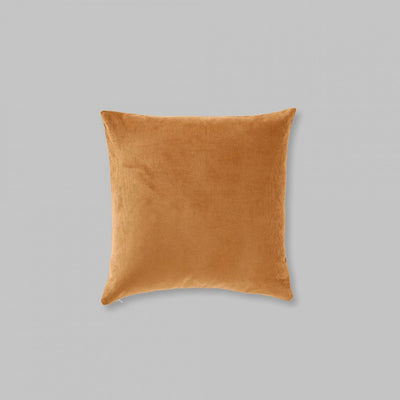 Organic Cotton Square Cushion in Ochre
