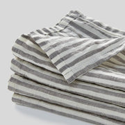 100% linen napkin set in stripe