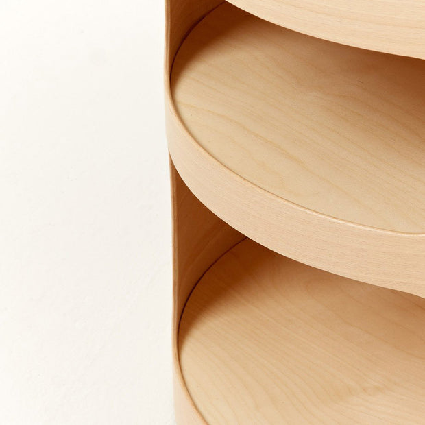plyroom's oh side table is ideal for a minimalist bedroom space