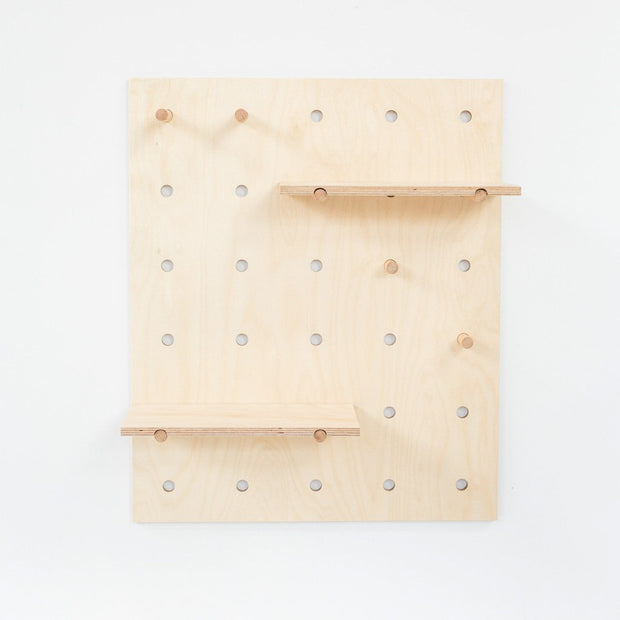 peggy peg board is a japandi storage solution for modern interior design