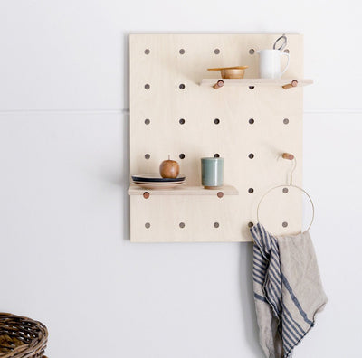 Peggy Peg Board is a modern, Scandinavian Inspired Storage Solution