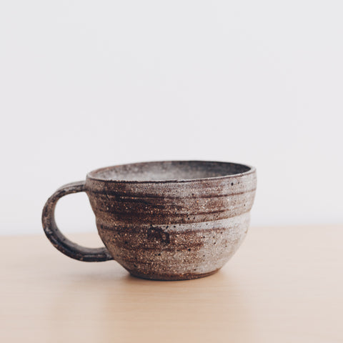 Ceramic Cup Dark Glaze