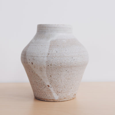 Shibo Ceramic Vase in Chalk Glaze