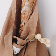 in bed store pure linen market bag