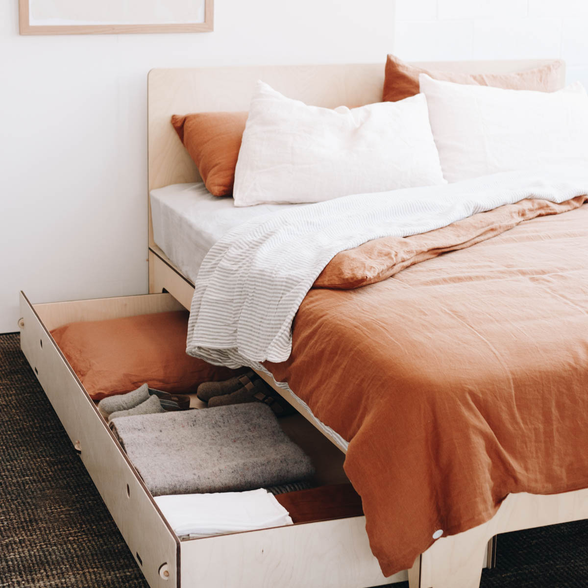Bed with Storage and Modern Furniture Made in Melbourne by Plyroom