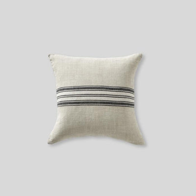 Heavy Linen Cushion Cover with Stripe Natural