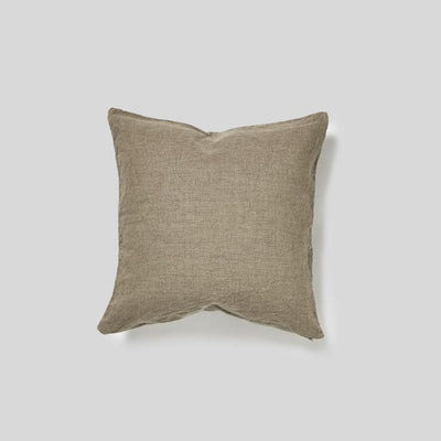 100% Linen Square Cushion in Natural