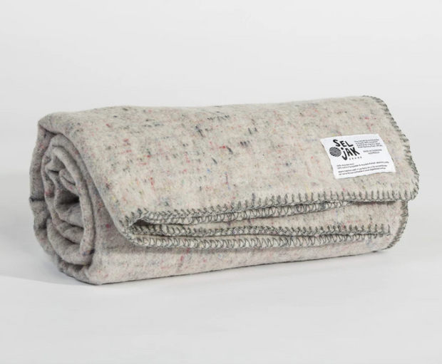 seljak original recycled whipstitch blanket