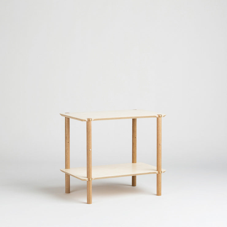 minimalist bedside table for calm bedroom space