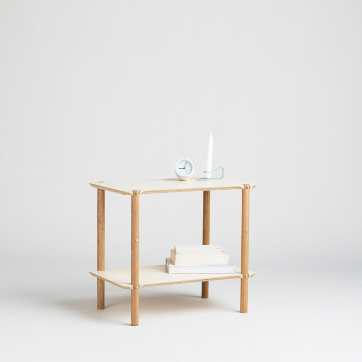 minimalist bedroom design with the shibui side table