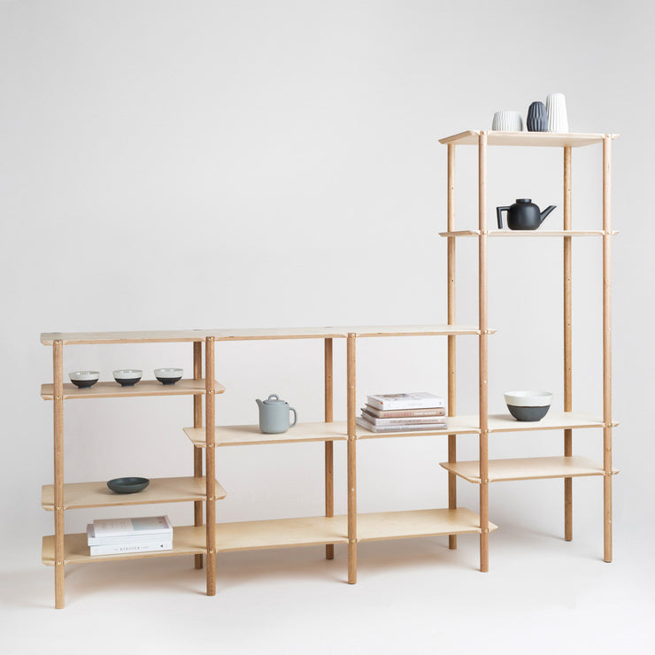 the shibui l shelf is a japandi inspired shelf for modern interior design