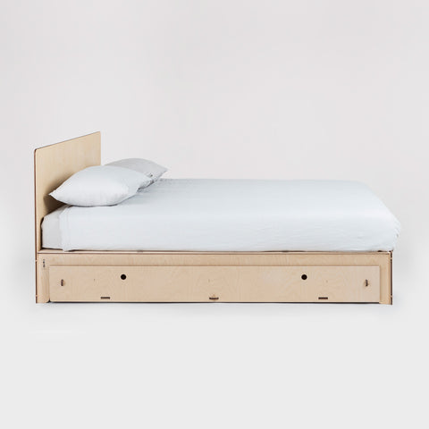 Flat Out Queen Bed with Large Trundle Drawer