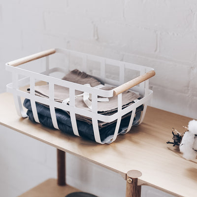Yamazaki Tosca Minimalist Storage Basket Double Handle