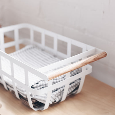 Yamazaki Tosca Minimalist Storage Basket Single Handle