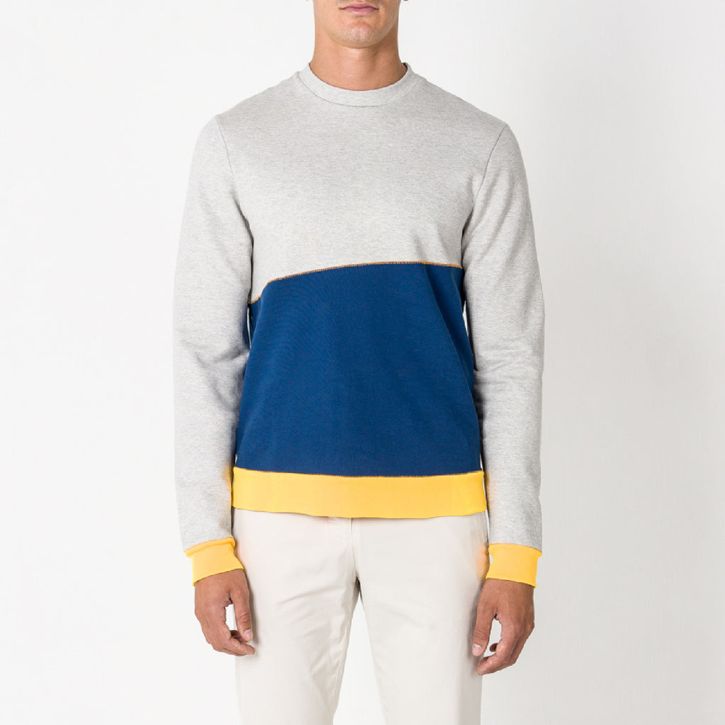 DANCER CONTRAST SWEAT/2/LT GREY MEL-DARK COBALT