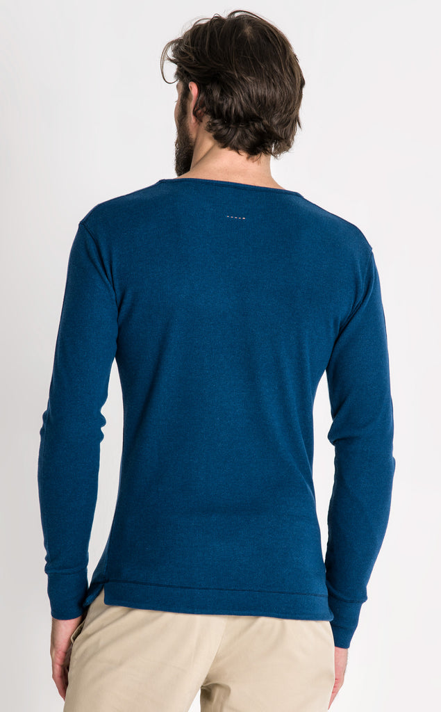 ENGINEER LS KNIT/1/DARK MARINE
