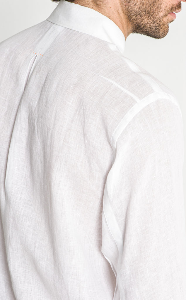 OFFICER LINEN SHIRT/6/WHITE