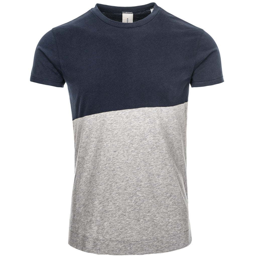 DRIVER CONTRAST T SHIRT/1/NEW NAVY-LT GREY MEL