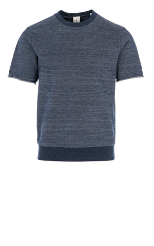 DANCER SHORT SLEEVE SWEAT / NAVY MELANGE
