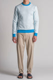 DANCER CONTRAST SWEATSHIRT / ARCTIC BLUE