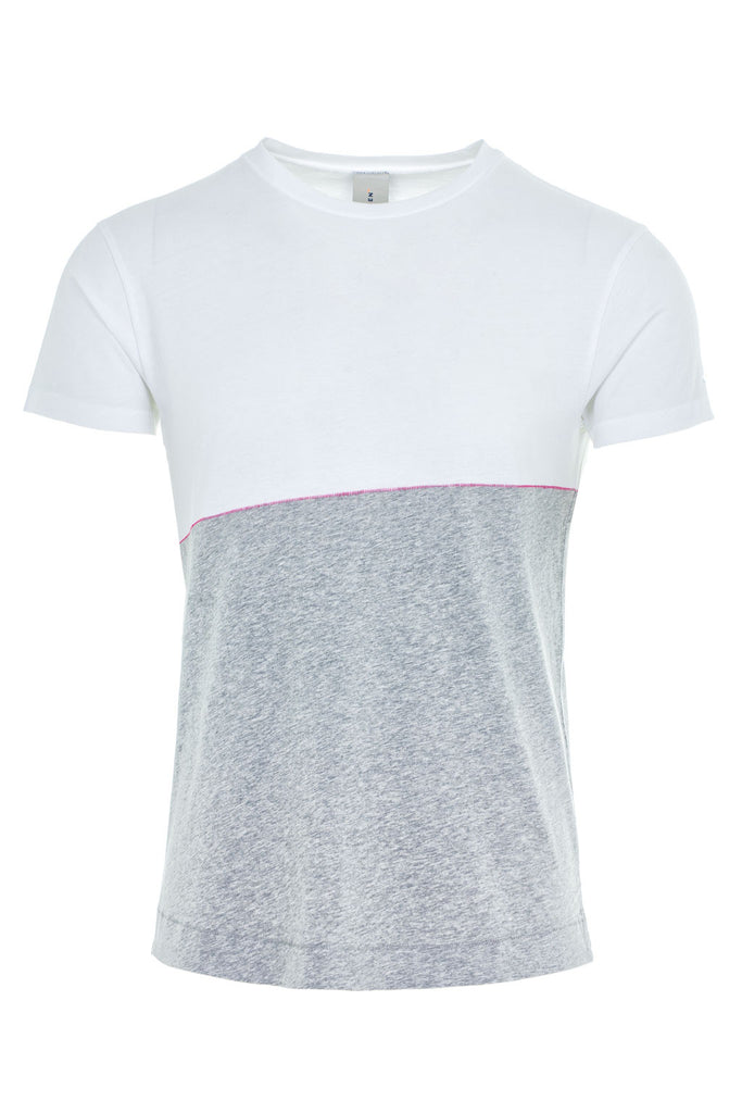 DRIVER CONTRAST T SHIRT/1/WHITE-LT GREY MEL