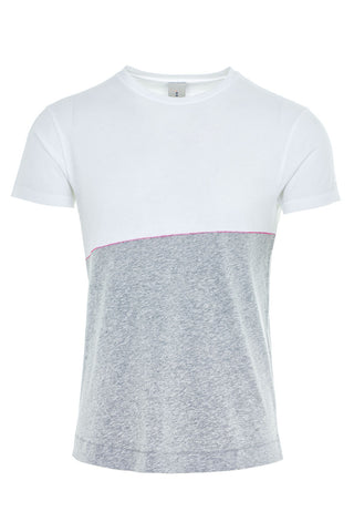 DRIVER CONTRAST T-SHIRT / WHITE-LIGHT GREY MELANGE