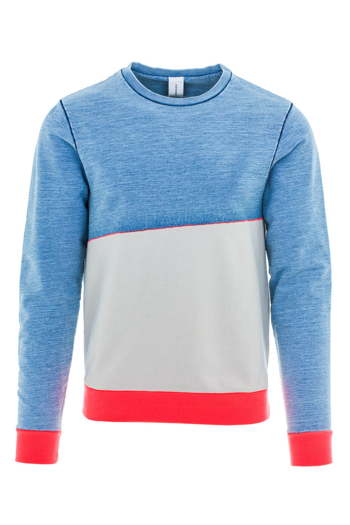 DANCER CONTRAST SWEATSHIRT / BLEACHED-CLAY-NEON RED