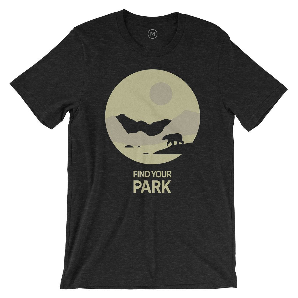 Find Your Park Bear Silhouette Night T-Shirt