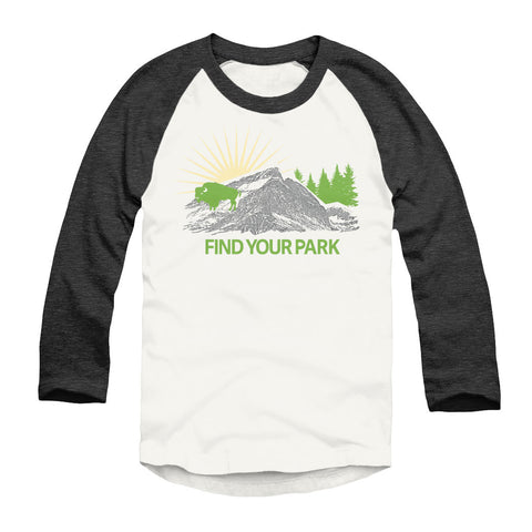 Find Your Park Bison Raglan T-Shirt