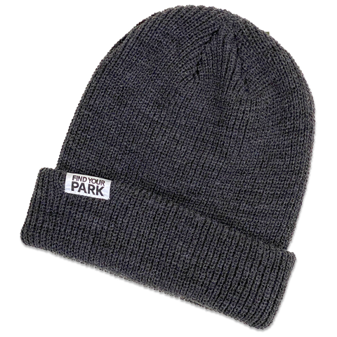 Find Your Park Tag Beanie - Grey