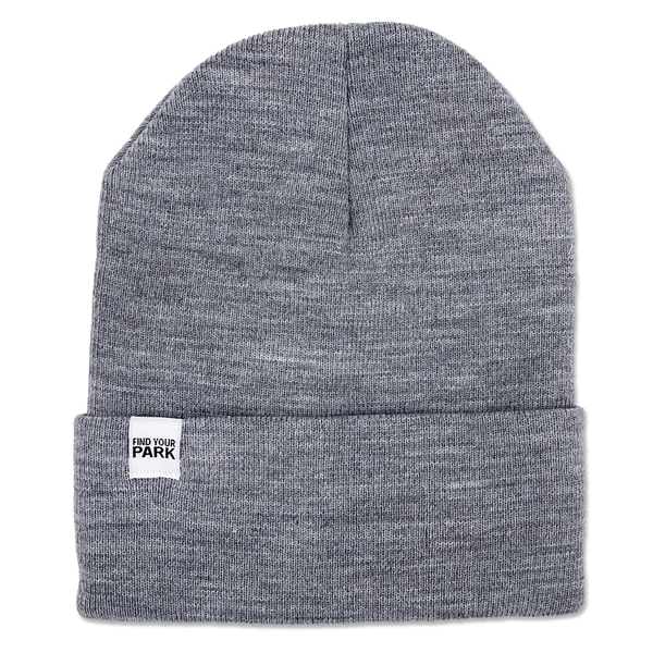 Find Your Park Tag Beanie - Light Gray