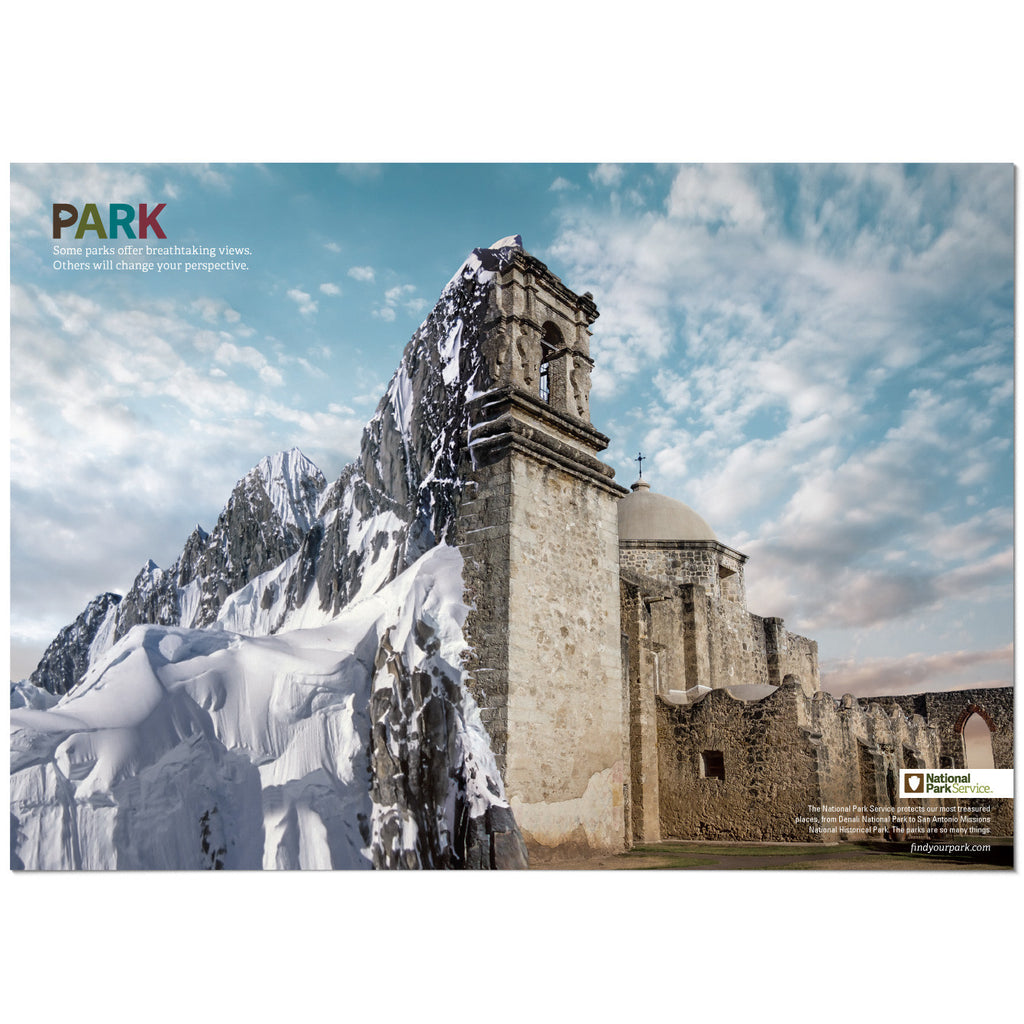 Denali National Park/San Antonio Missions National Historical Park Mashup Poster