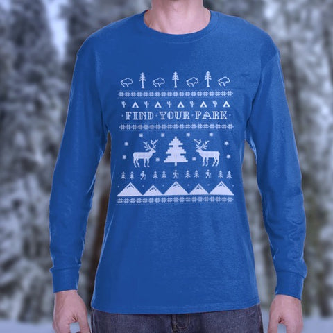 "Find Your Park ""Ugly Sweater"" Long Sleeve T-Shirt"