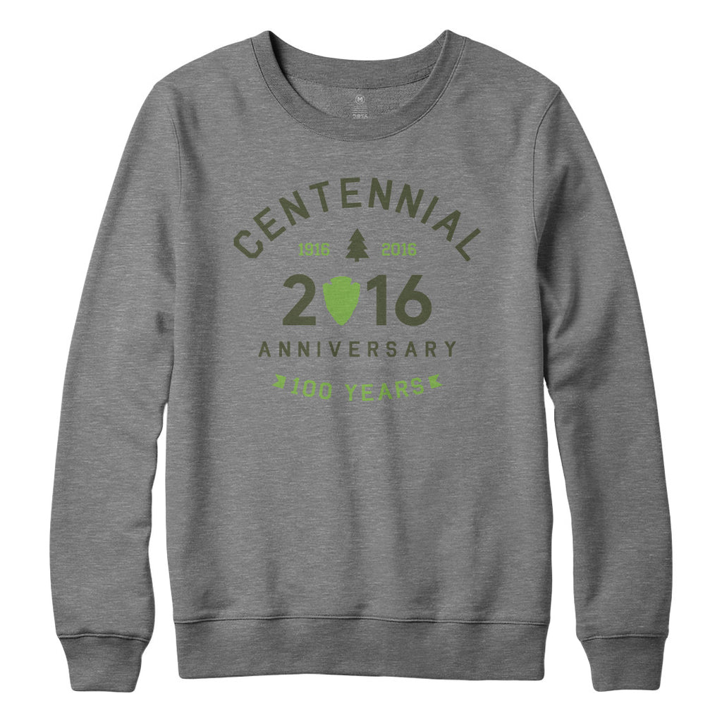 National Park Centennial Crew Neck Sweatshirt | Find Your Park | National Park Service Official Store