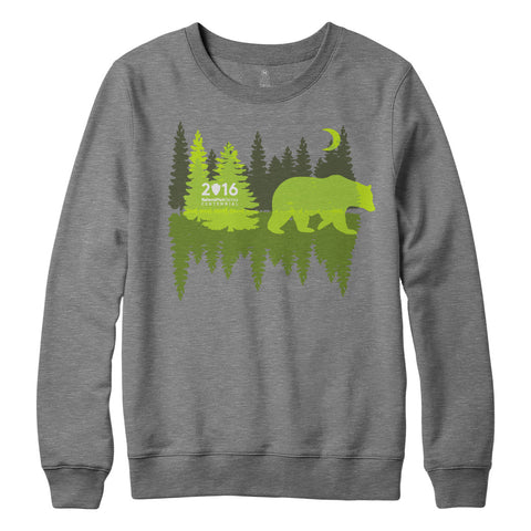 National Park Centennial Crew Neck Bear Sweatshirt | Find Your Park | National Park Service Official Store