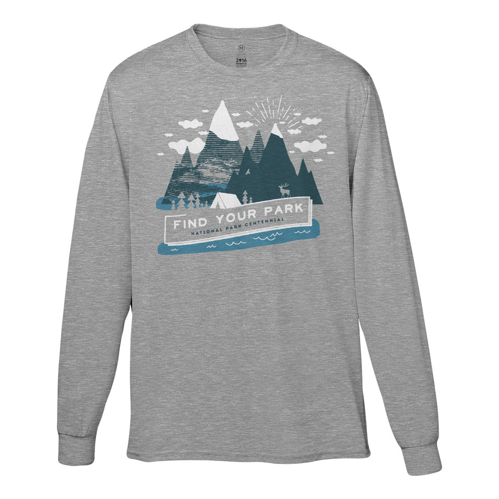 Hitrecord Mountain Long Sleeve T-Shirt | Find Your Park | National Park Service Official Store