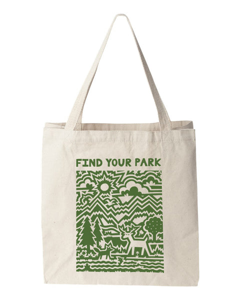 Find Your Park Stencil Tote