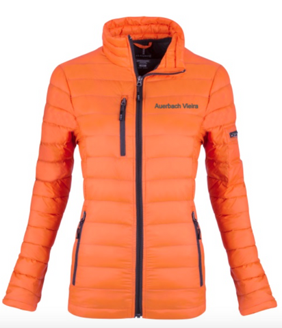 Auerbach Vieira Elevate Whistler Women's Light Down Orange Jacket