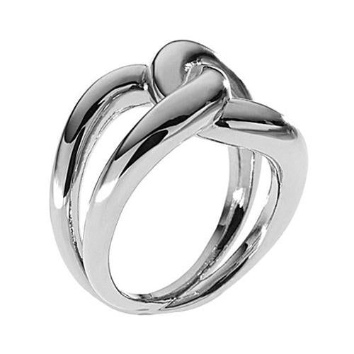 MICHAEL KORS SILVER TONE TWIST RING