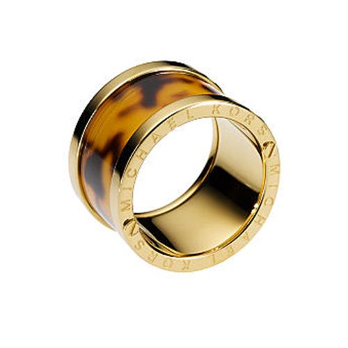 MICHAEL KORS TORTOISE-DESIGN BARREL RING