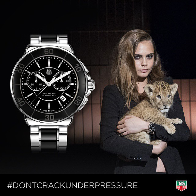Cara Delevingne, the new face of Tag Heuer!