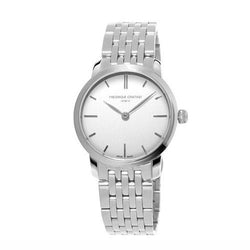 Frédérique Constant Slimline Steel & White 29mm Ladies Watch